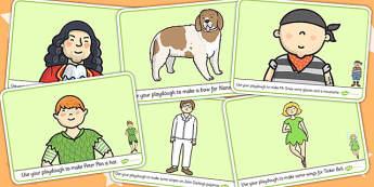Peter Pan Playdough Mats - Peter, Pan, Tinkerbelle, Playdough