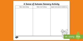 A Sense of Autumn Sensory Walk Activity - exploring my world, seasons, Aistear, school trip, forest, blackberries, squirrels, leaves, bark, se
