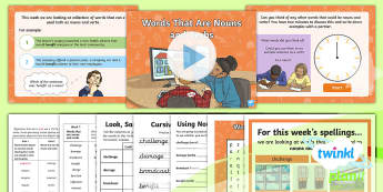 PlanIt Spelling Year 6 Term 3A W2: Words That Can Be Nouns and Verbs Spelling Pack - Spellings Year 6, Y6, KS2, spelling, spell, pack, SPaG, GPS, nouns, verbs, Words That Can Be Nouns a