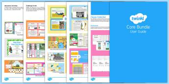 Core Bundle User Guide - twinkl, user guide, core, core bundle, free user guide, guide, user