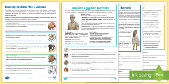 Year 4 Reading 3 Revision Activity Mat Pack - Inference, Predicting, Summarising, Inferring, Comprehension, Fiction, Ancient Egypt, Ancient Egypti