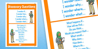 Discovery Question Poster 2xA4 - discovery questions, scientific investigation, scientific enquiry, science questions, science questions poster, ks2 poster