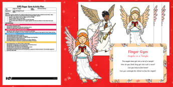 EYFS Angels in a Tangle Finger Gym Plan and Resource Pack
