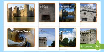 Burg Fotos für die Klassenraumgestaltung - Schloss, Mittelalter, mittelalterlich, Bilder, Fotos, HSU, HSK, Sachunterricht,