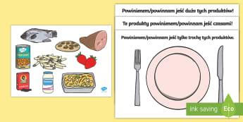 Zestaw do sortowania Zdrowe odżywianie - jedzenie, odżywianie, pożywienie, owoce, warzywa, sortowanie, porządkowanie, zdrowie, zdrowie, s