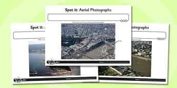 Spot it Aerial Photographs Worksheet / Activity Sheet, worksheet