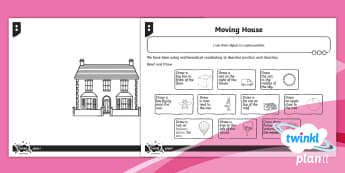 PlanIt Maths Y1 Position Moving House Home Learning Tasks