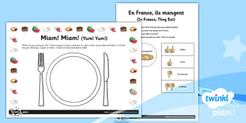 French: Food, Glorious Food! Year 3 Unit Home Learning Tasks