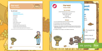 EYFS Harvest Treasure Basket Ideas - Harvest, Harvest Festival, autumn, baby, babies,