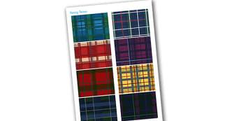 Family Kilts Cut Outs - kilts, scotland, cut outs, cutting