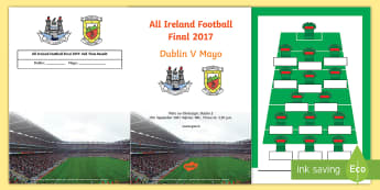 All Ireland Football Final Match Day Programme Booklet - ROI, GAA, All ireland, football, final, gaelic games, mayo, dublin, match, programme,Irish