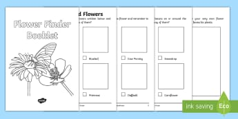 Flower Finder Booklet - Plants and Flowers Hunt Booklet - Plants hunt, flowers hunt, investigation, finding plants, Plant gr