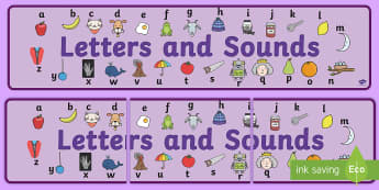 Alphabet Display Banner - Phase 1, phase one, Phases, Foundation, Literacy, Letters and Sounds, display banner, Alphabet, A-Z letters, Alphabet flashcards, letters and sounds, DfES, display