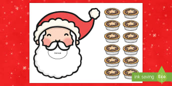 Feed Father Christmas Counting Activity