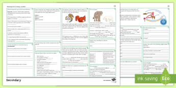 AQA Trilogy Biology Unit 4.7: Ecology Foundation Revision Activity Mat  - adaptation, interdependence, competition, ecosystem, carbon cycle, biodiversity, deforestation, glob