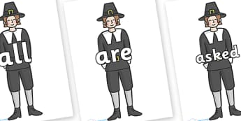 Tricky Words on Pilgrims - Tricky words, DfES Letters and Sounds, Letters and sounds, display, words