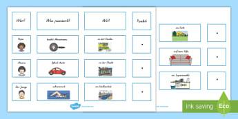 Grammatik Satzbau - Deutsch Grammatik - 1./2. Klasse