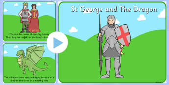 St George And The Dragon -  Story PowerPoint - story, powerpoint, st george