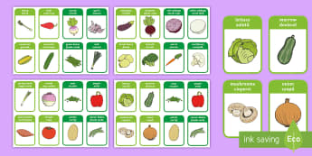 Vegetable Flashcards English/Romanian - Vegetable Flashcards -mr potato head, healthy eating, health, food , healthy eating, flash cards, ve