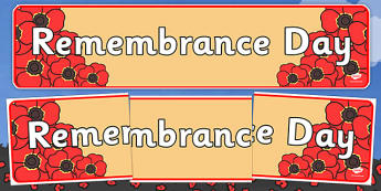 Remembrance Day Display Banner - Remembrance Day, war, battle, world war, poppy, cross, army, fight, 11 November, Remembrance Sunday, heroes