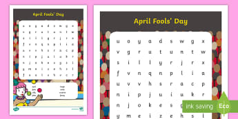 April Fools' Day Word Search - EYFS/KS1 April Fool's Day, 1st april, jokes, tricky, silly, word search, words, vocabulary, games