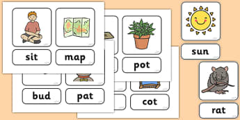 Phase 2 What's In The Box Cards - Letters and Sounds, cards, Phase 2, Phase two, Foundation, Literacy, Mnemonic Images