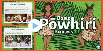 Powhiri Process PowerPoint - Maori Culture and Traditions, Maori, Powhiri, Te Marae, Marae Visit, Welcome