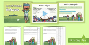 KS2 Refugee Activity  PowerPoint Pack - KS1 & 2 Refugee resources (refugee week (20.6.17) PowerPoint, worksheets, story, activities, writing