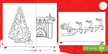 Christmas Follow the Directions Coloring Activity Pack - Listening Skills, Coloring Skills, Color Recognition, Christmastime, Direction Following