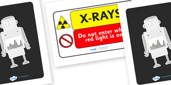 Toy Hospital X Ray Display Signs - toy hospital, hospital, dolly, x ray, display, sign, banner, poster, cars, balls, dolls, teddy, toay animals