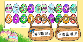 Odd and Even Number Easter Egg Differentiated Sorting Activity