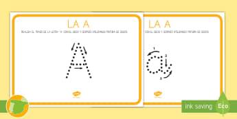 Ficha de lecto: Las vocales - La A - Vocales, Letras, Sonidos, Lectoescritura, Pre-Escritura, Lectura, Pre-Lectura