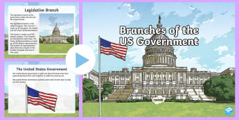Branches of Government PowerPoint - government, US government, legislative, judicial, executive, federal government