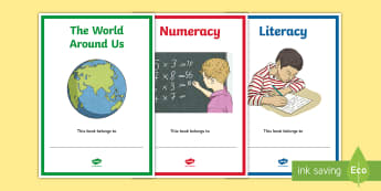 School Subjects Editable Book Covers - Curriculum, NI, labels, signs, Topics, Areas