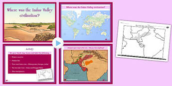 Where Was the Indus Valley Civilisation Lesson Teaching Pack