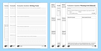 EdExcel RS GCSE Evaluation Question  Writing Frames Pack