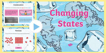 Changing States PowerPoint - changing states, solids liquids and gases, states powerpoint, solids liquids and gases powerpoint, changing states ks2, ks2