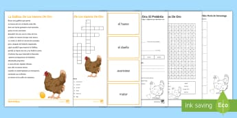 Spanish Literature Activity Pack to Support Teaching on 'La Gallina de los Huevos de Oro' by Samaniego Spanish - literature, authentic, text, moral, culture, Spain