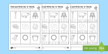 Find and Write the ie Words Differentiated Activity Sheets - Phonics activity, phase 5, letters and sounds, ie sound, find the sound, sort the pictures, write th