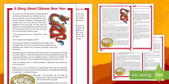 KS2 A Story About Chinese New Year Differentiated Reading Comprehension Activity - Zodiac, Inference, Y3, Y4, Y5, Y6, Deduction, Year of the Dog