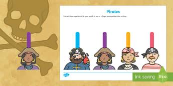 Writing Finger Spacers (Pirates) - Pirates, writing, finger spaces, spacers, pirates, literacy, english, CLL, handwriting