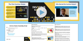 Whole School Invictus Assembly Pack - sport, injuries,Royal family, international, assemblies