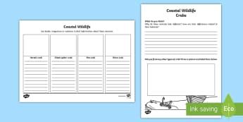 Coastal Wildlife: Crab Activity Sheet - Science Week, 10/03/17, crab, crabs, hermit crab, giant spider crab, pea crab, shore crab, drawing,