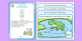 Slimy Frog Playdough Recipe and Mat Pack - eyfs activities, malleable, fine motor skills