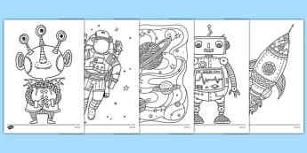 Adult Colouring Mindfulness Space Themed Sheets - space, mindfulness, colouring sheets, colouring, sheets, colour, adult, adult mindfulness