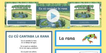 Cu Cu Cantaba La Rana Nursery Rhyme  - Spanish KS2, spanish speaking, spanish culture, spanish songs,