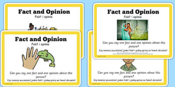 Guided Reading Skills Task Cards Fact and Opinion Polish Translation - english, language, group, small, books, library, words, infer, challenge, independent, true, truth, made up, implied, detail,