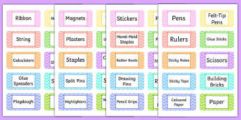 Teacher Toolkit Tote Tray Labels