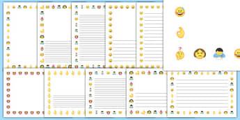 Emojis Page Border Pack - , moji