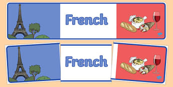 French Display Banner - MFL, French, Modern Foreign Languages, French numbers, foundation, languages, display, francais, numeracy, banner, display